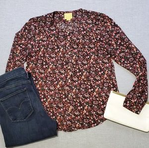 Anthro Maeve Floral Button Down